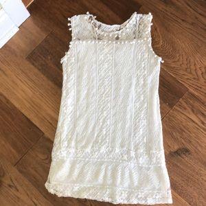 BOGO FREE cream lace overlay tunic small